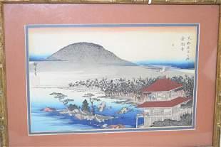 19th C Japanese Ukiyoe Woodblock Print