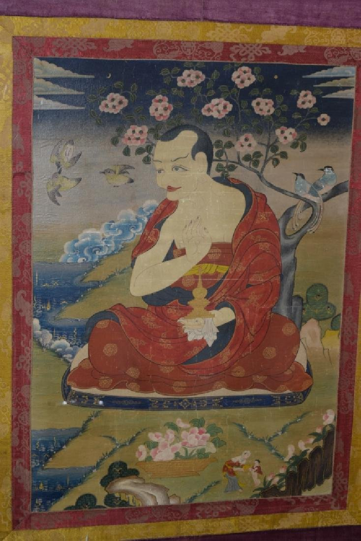 18th C. Tibetan Thangka in Frame