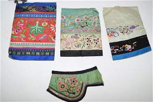 Group of Qing Chinese Embroidered Sleeves