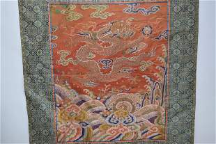 Qing Chinese Embroidery of Dragon