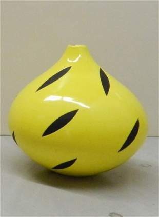 Untitled Yellow Vessel by Pam Summers