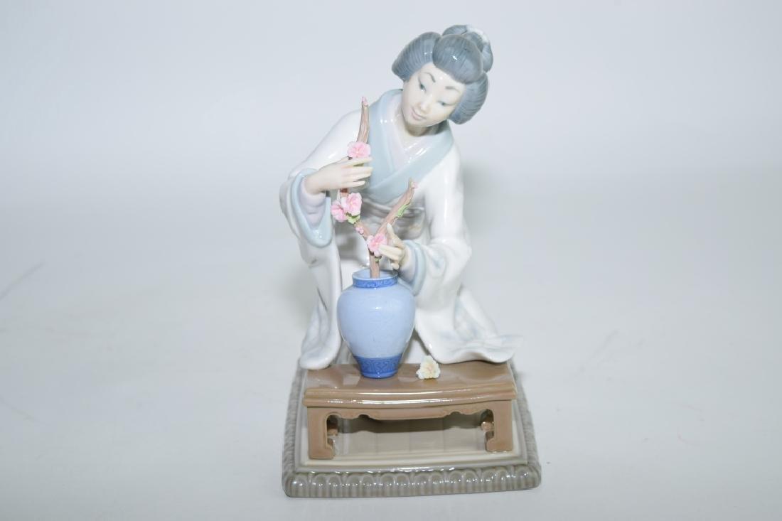 Lladro Japanese Flowerist Figure