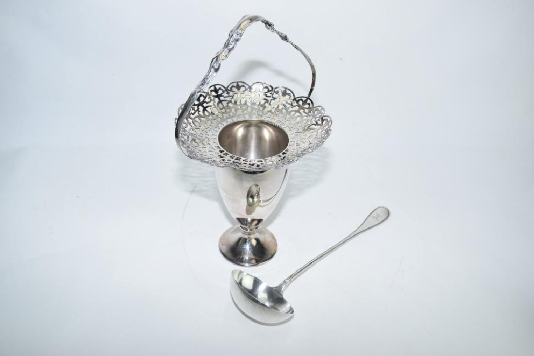 Silver Plate Basket and Ladle