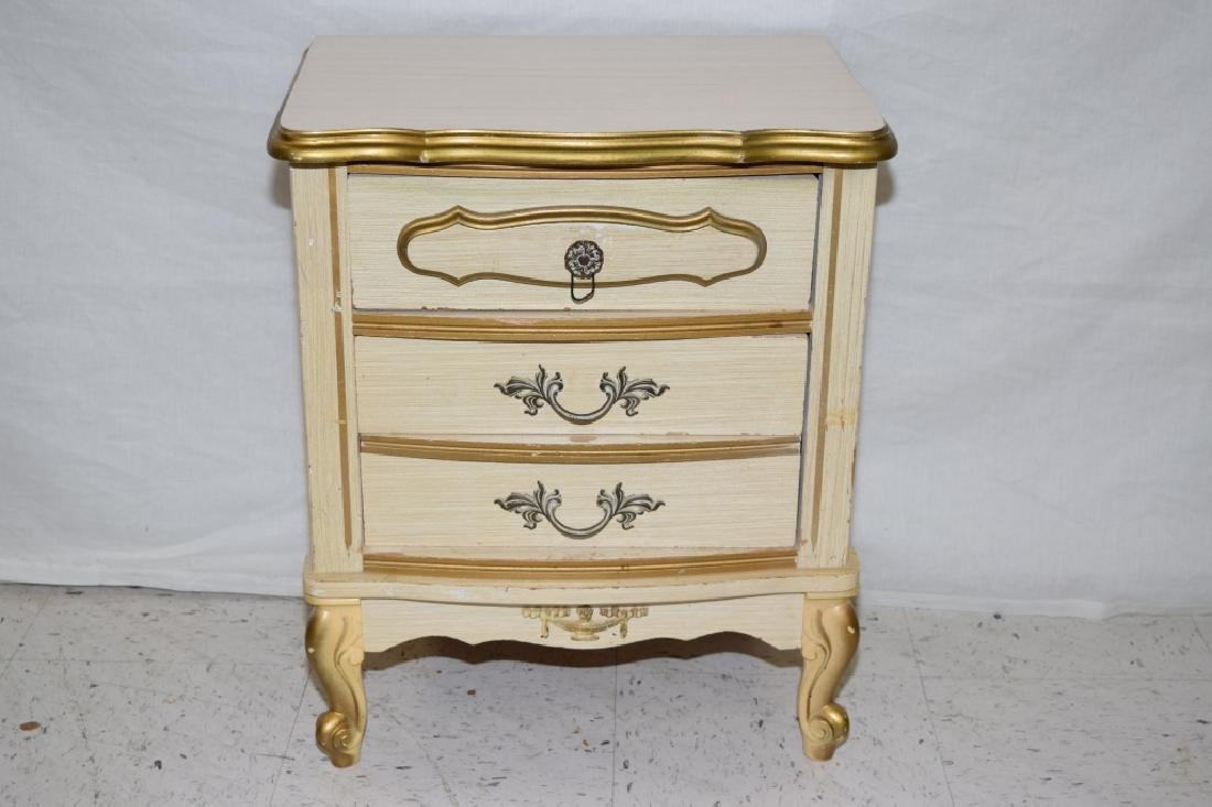 Gilt Two-Drawer Night Stand