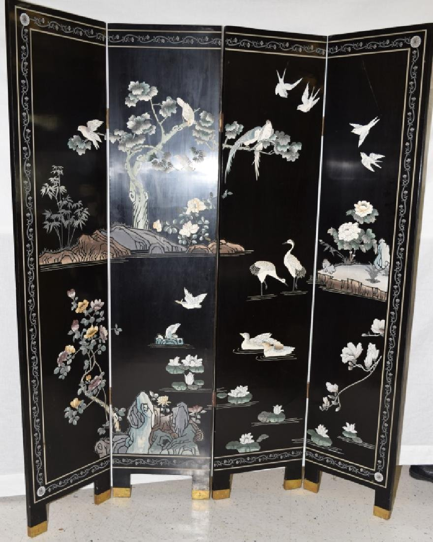 Chinese Lacquer Screen