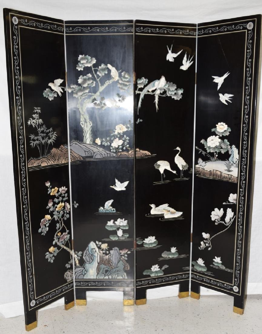 Chinese Lacquer Screen - 2