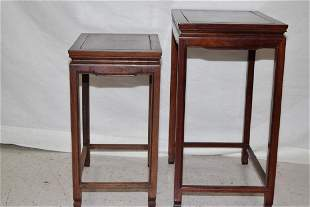 Set of Chinese Hongmu Carved Nesting Tables