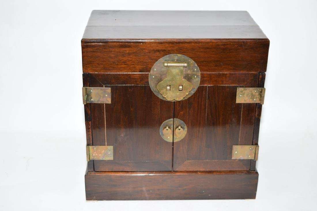 Chinese Hardwood Carved Jewelry Box