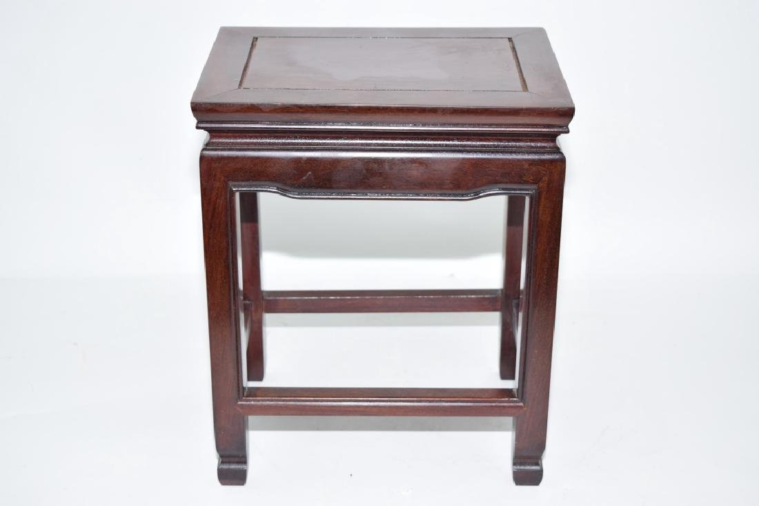 Chinese Hongmu Carved Stool
