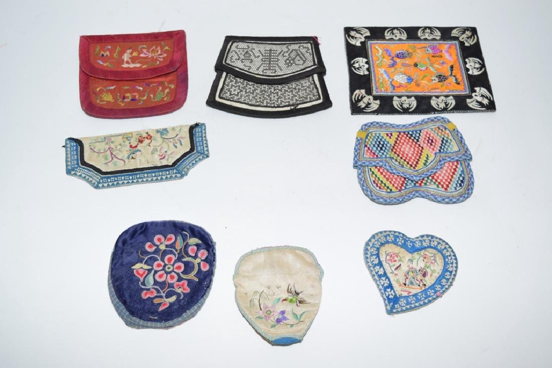 Group of Chinese Embroidered Pouches