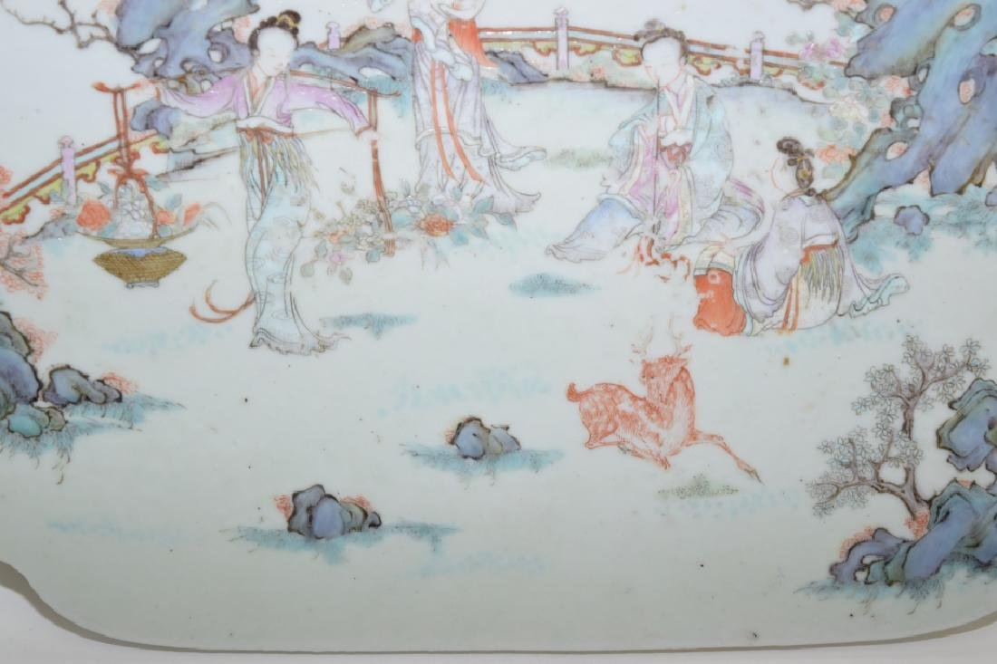 18-19th C. Chinese Famille Rose Plaque - 3