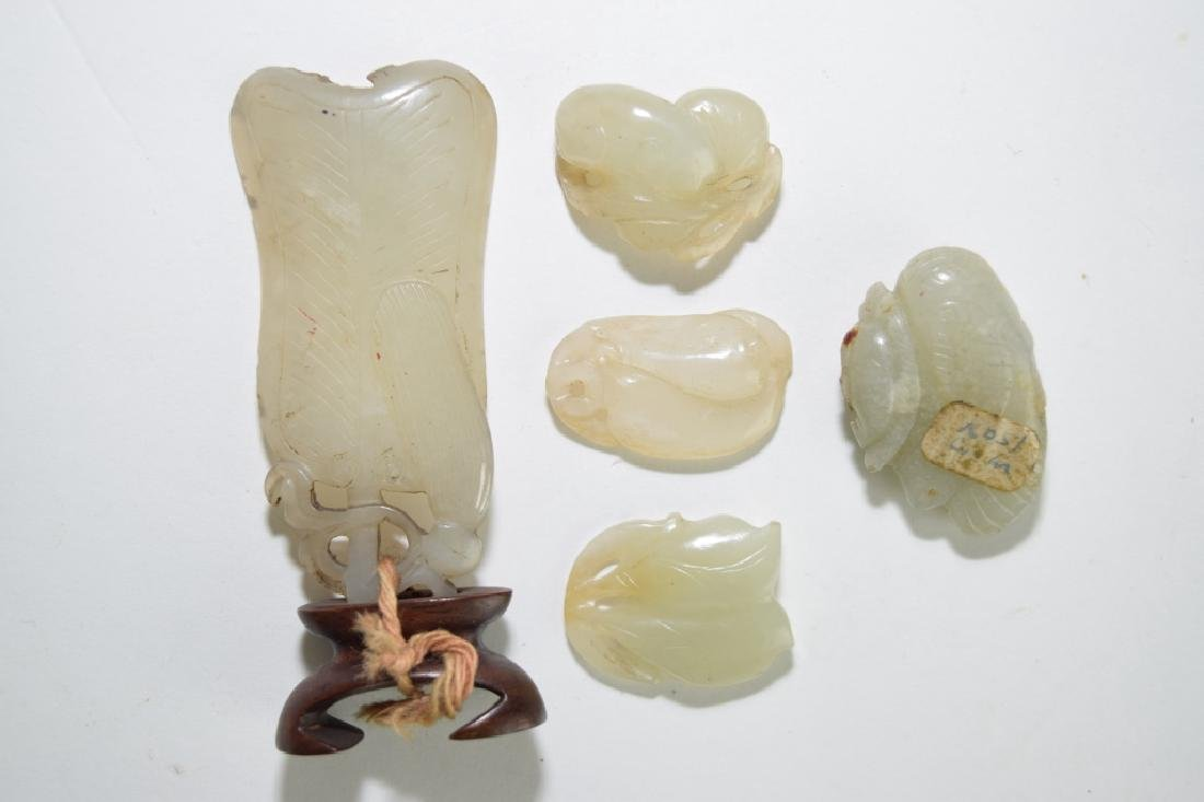 Five Chinese Jade Carved Amulets
