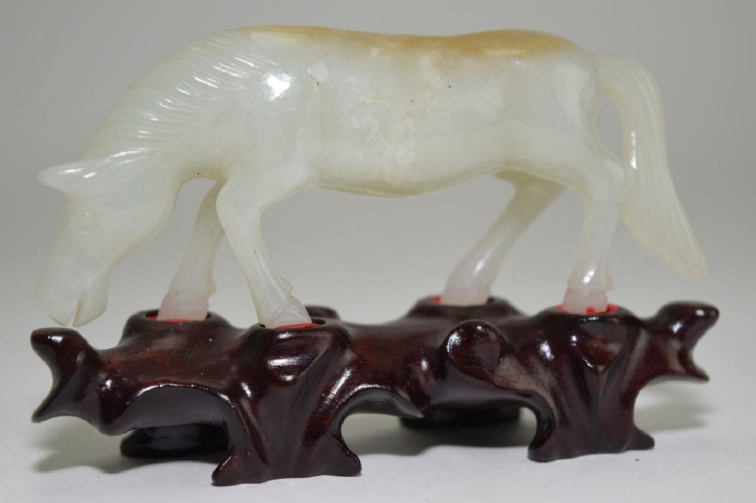 Chinese White Jade Carved Horse