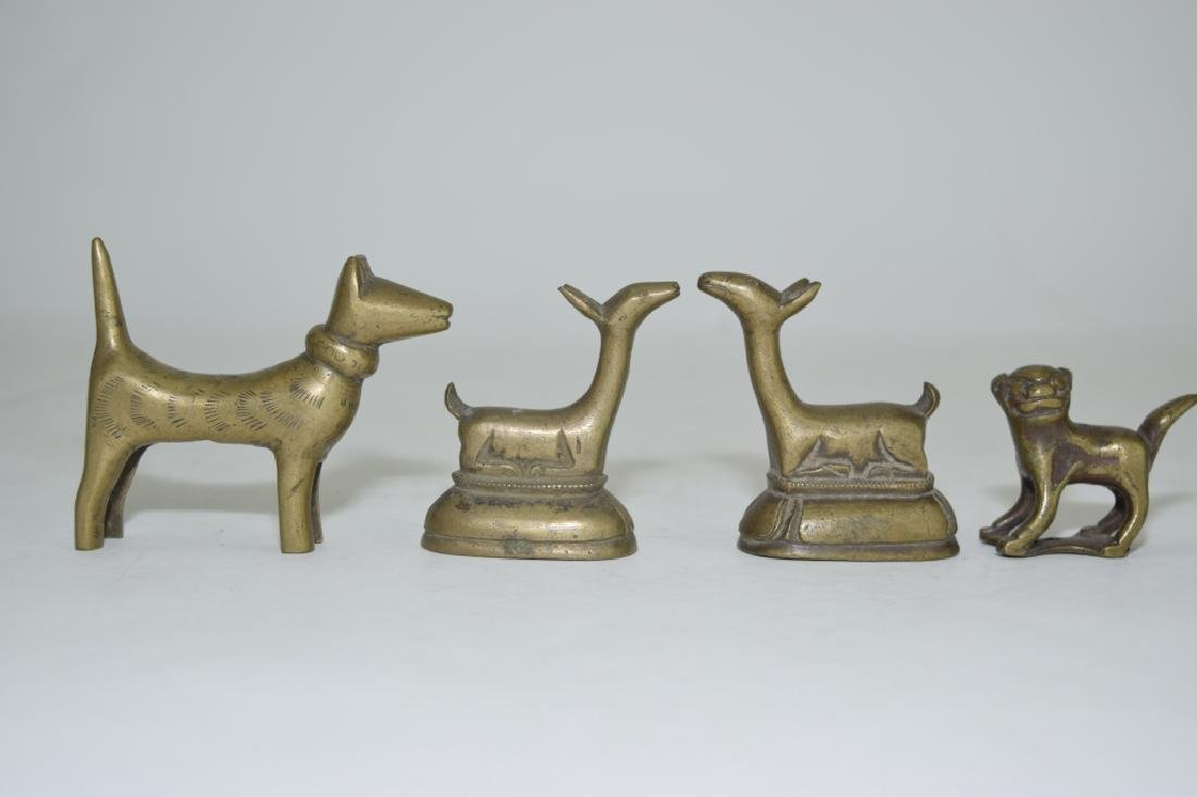 Group of Chinese Bronze Paper Weights