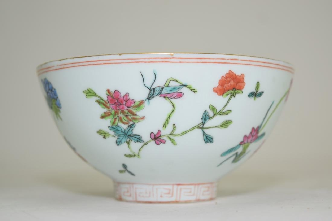 Chinese Famille Rose Bowl, Shen De Tang Mark