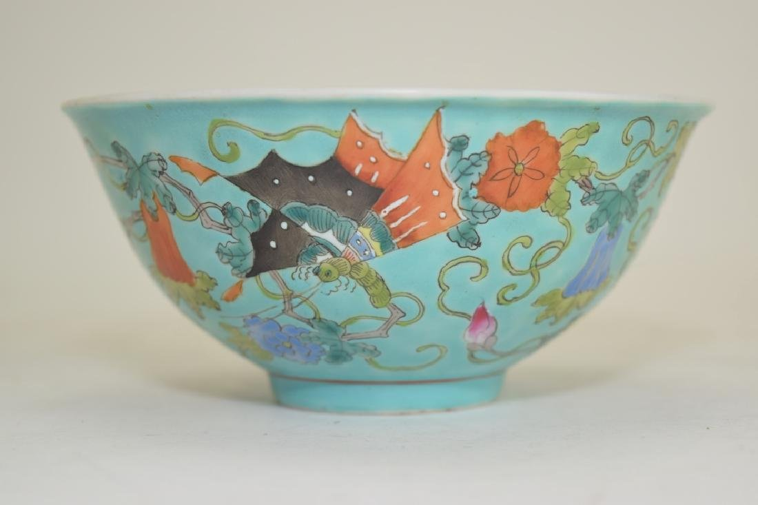 Chinese Famille Rose Butterfly Bowl - 2
