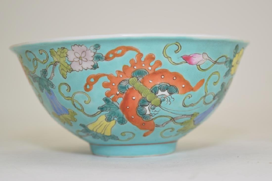 Chinese Famille Rose Butterfly Bowl - 3