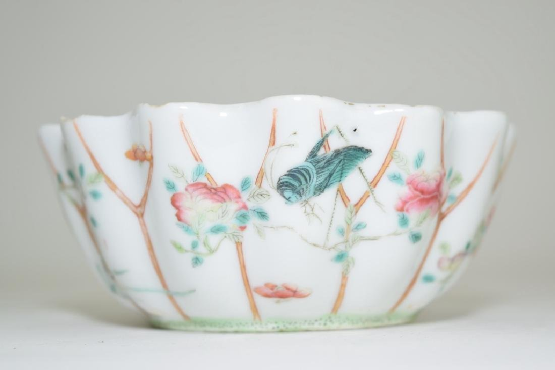 Qing Chinese Famille Rose Lily Pad Bowl