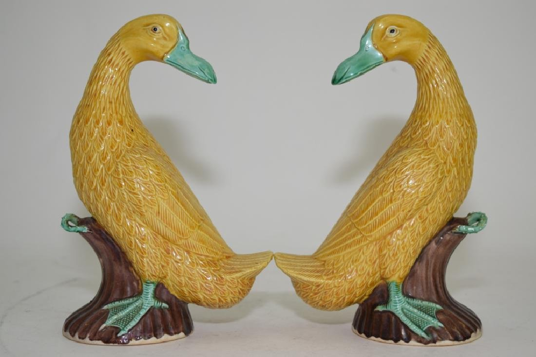 Pair of Chinese Sancai Ducks