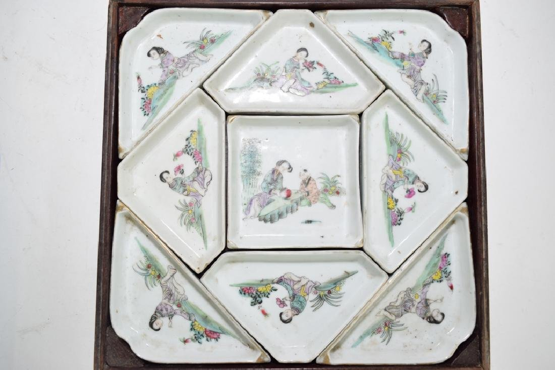 Set of Chinese Famille Rose Snack Plates