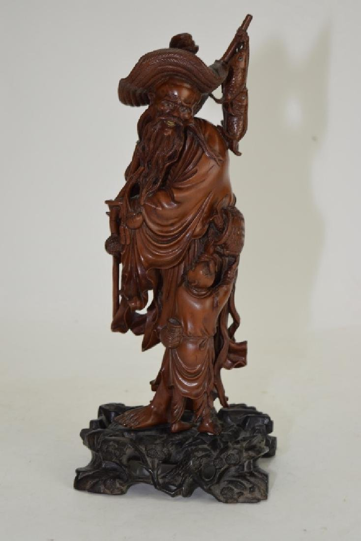 Chinese Wood Carved Fishman