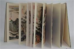 Chinese Watercolor Painting Album, after Lu YanShao