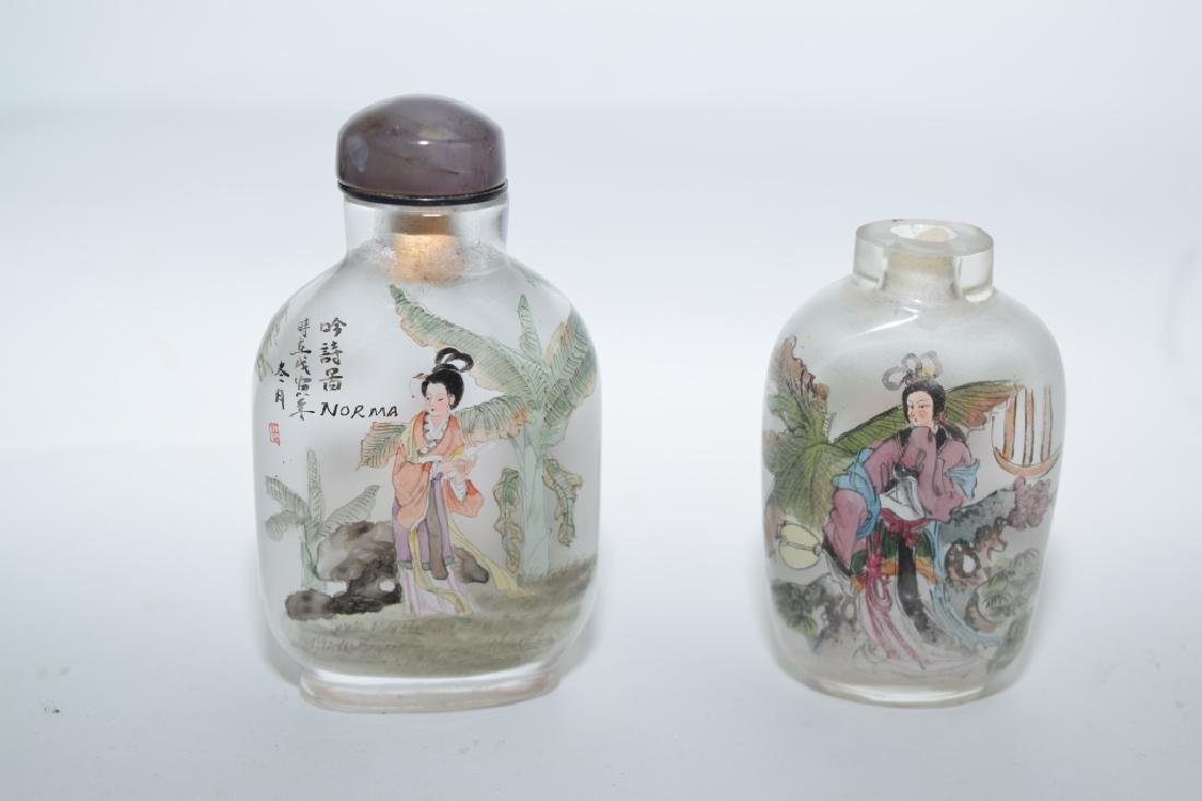 Two Chinese Reverse Painted Snuff Bottles