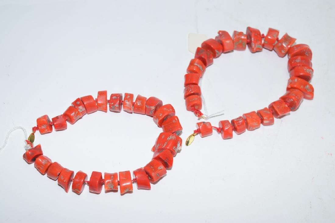 Two Natural Coral Bead Strands