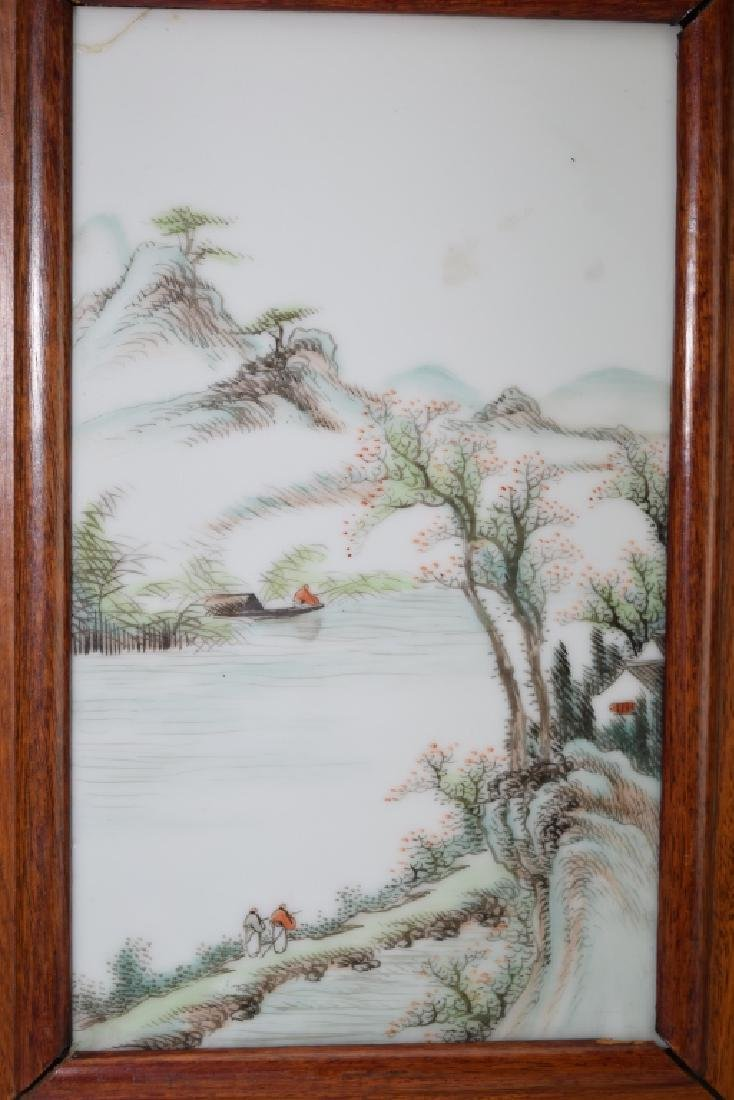 Two Chinese Famille Rose Plaques - 2