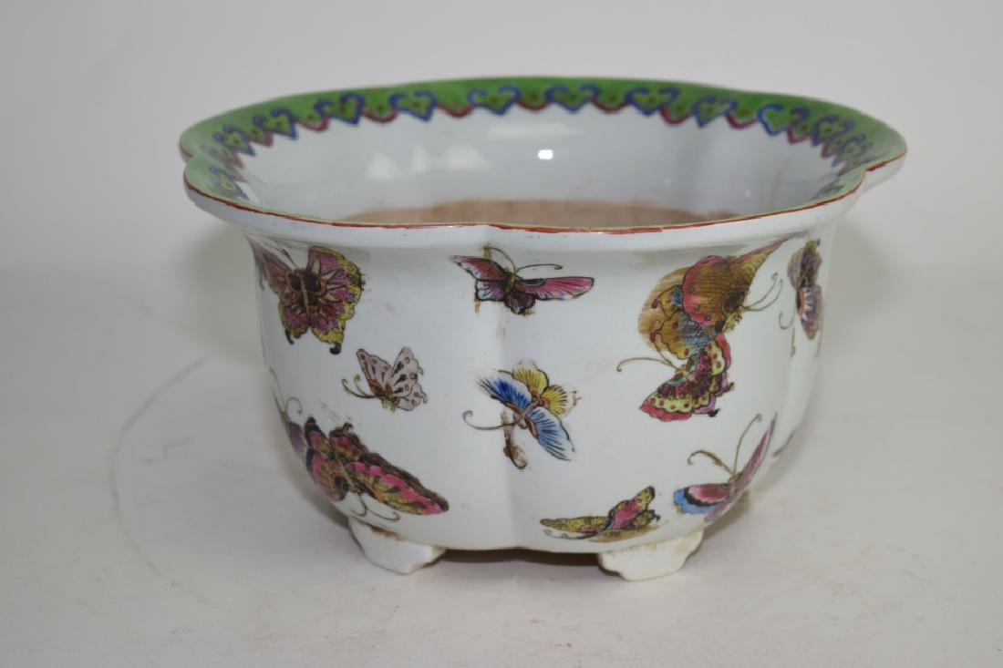 Chinese Famille Rose Butterfly Planter