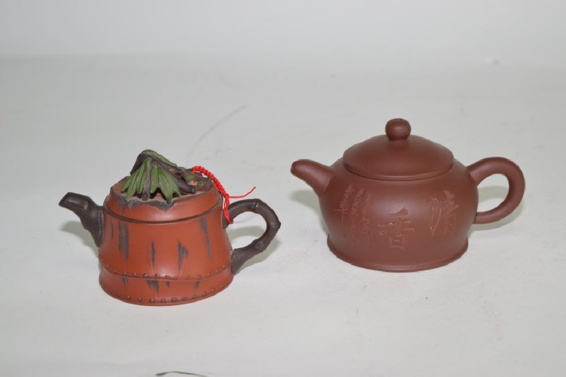 Two Chinese YiXing ZiSha Teapots