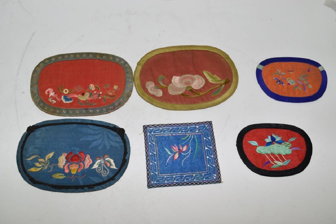 Six Chinese Embroidered Pouches