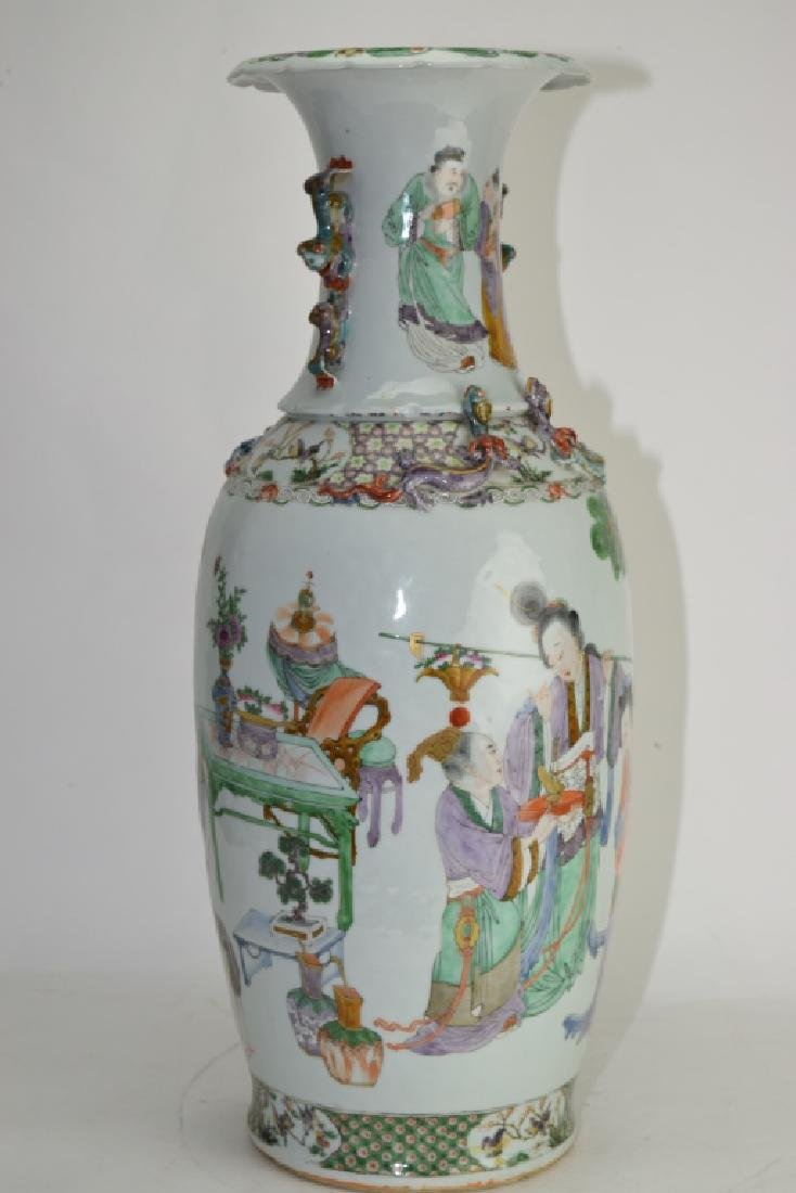 Large Qing Chinese Famille Rose Vase - 5