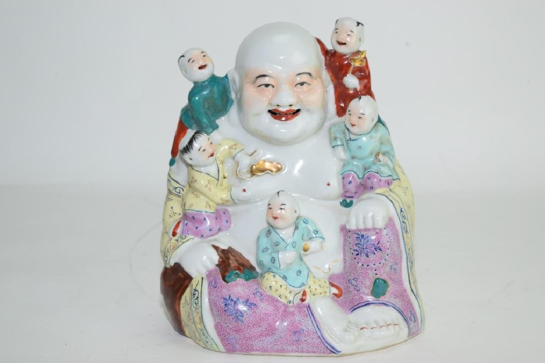 Qing Chinese Famille Rose Buddha