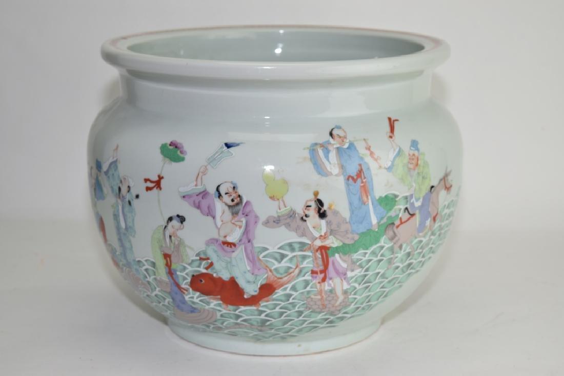 Chinese Famille Rose Eight Deities Jar