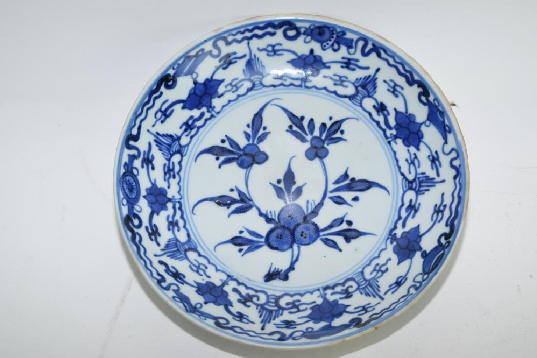 Ming Chinese Blue and White Plate