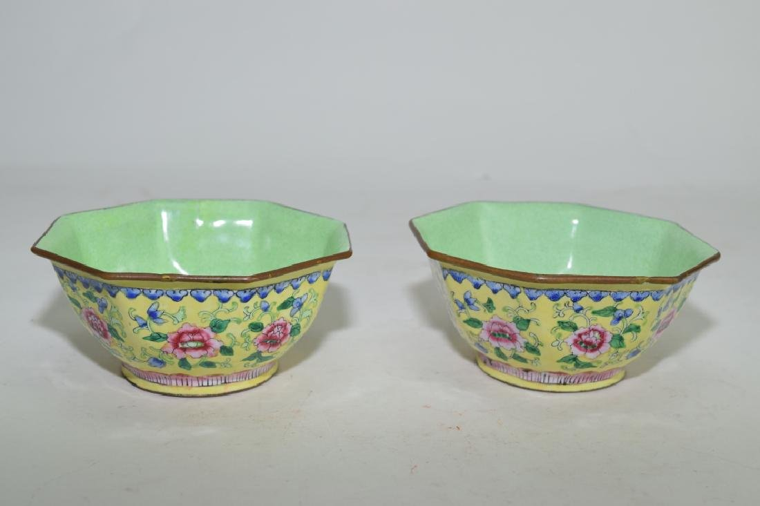 Two Chinese Enamel over Bronze Bowls