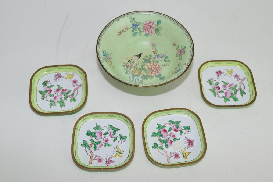 Group of Chinese Enamel over Bronze Ware