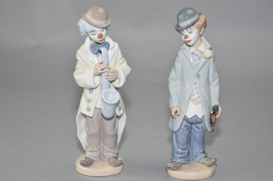 Two Lladro Clown Figures