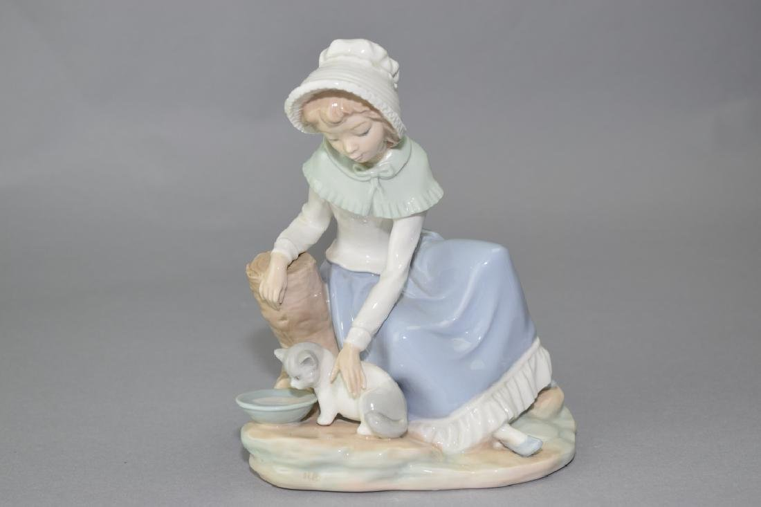Lladro Girl Figure with Cat