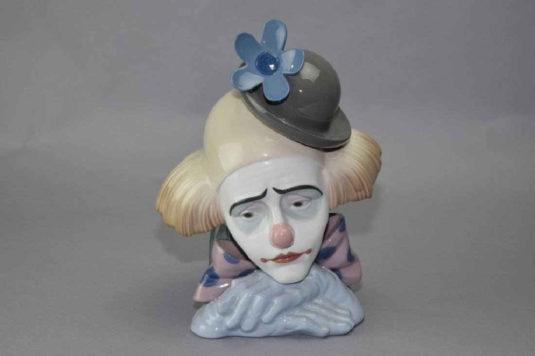 Lladro Sad Clown Bust