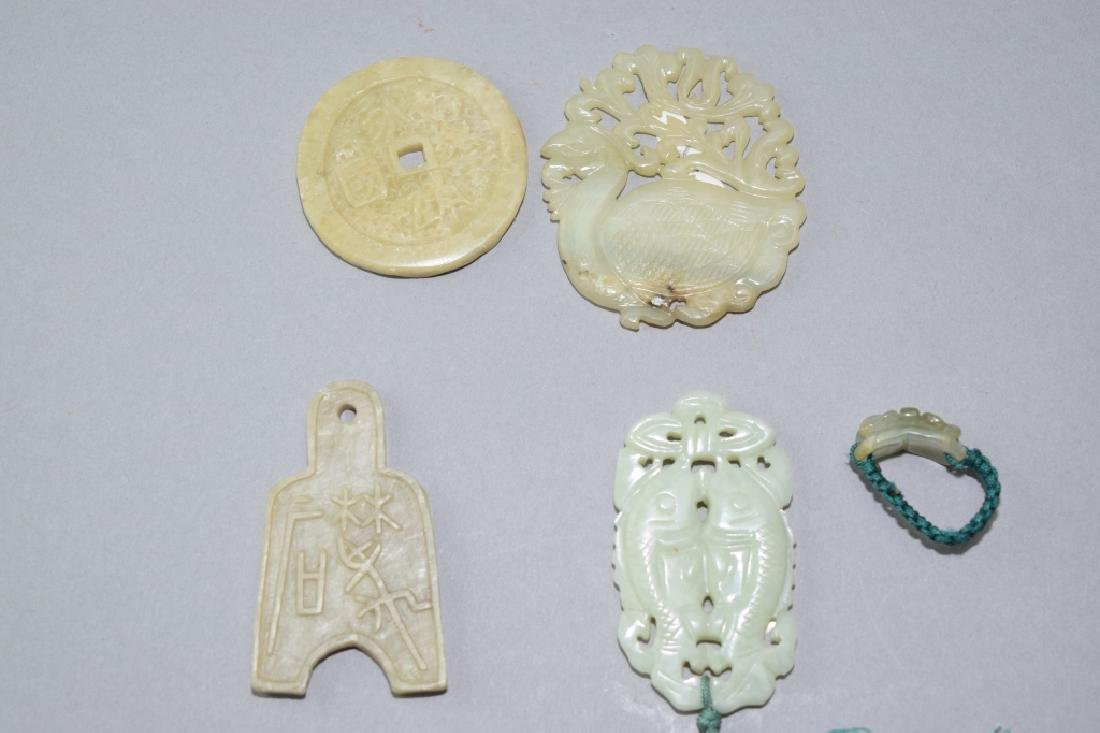 Group of Chinese Jade Amulets