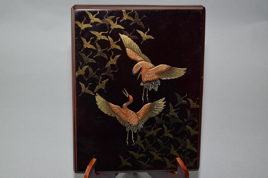 Japanese Black Lacquer Box
