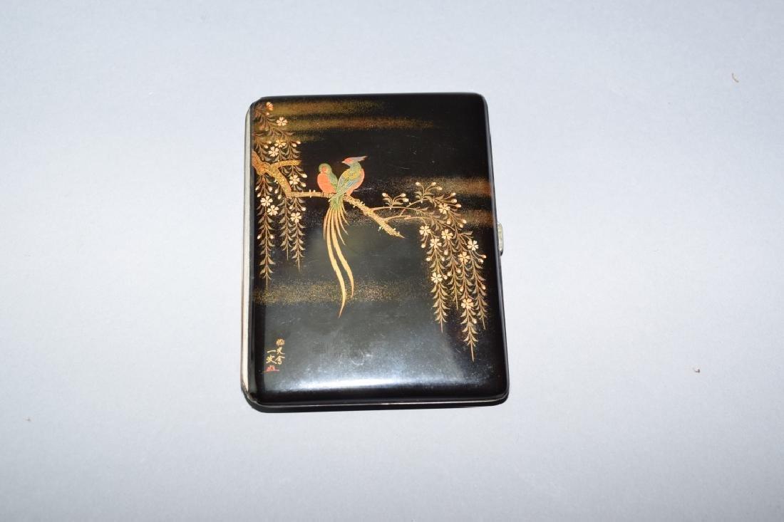 Japanese Enamel on Bronze Card Box