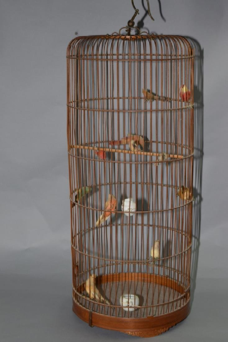 Chinese Bamboo Bird Cage
