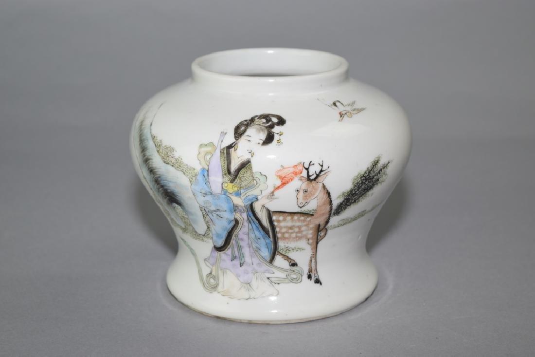 Republic Chinese Famille Rose Jar