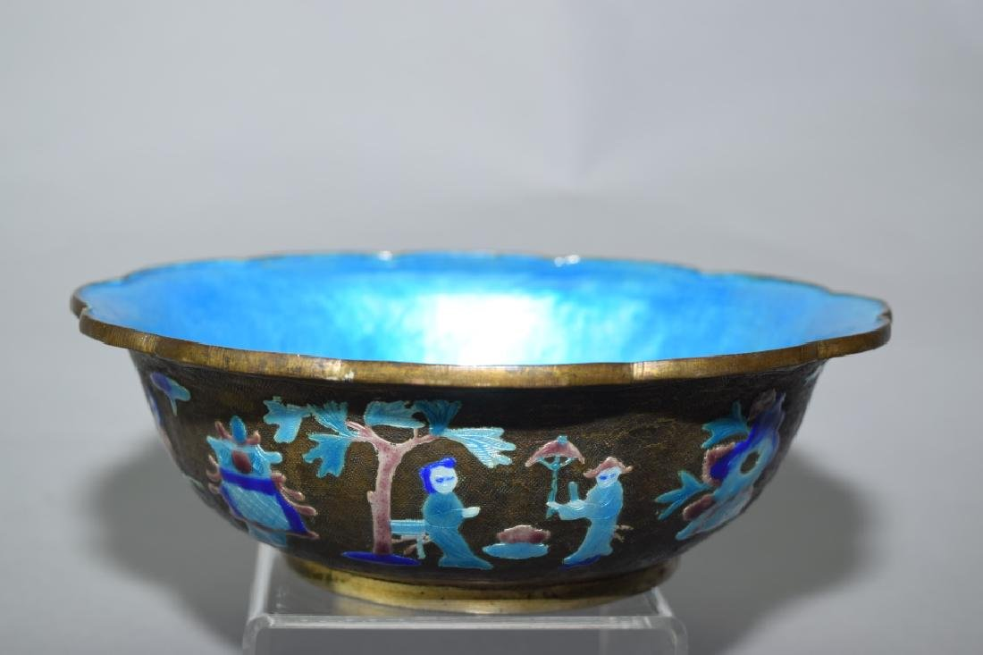 Republic Chinese Enamel over Bronze Bowl