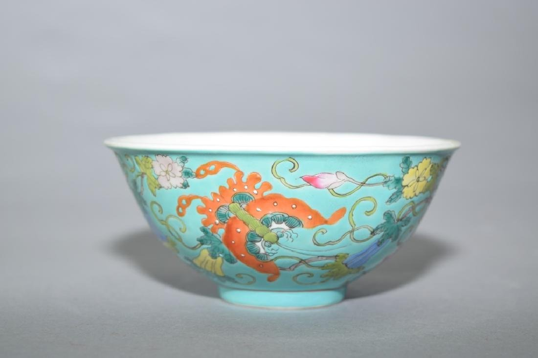 Republic Chinese Famille Rose Butterfly Bowl