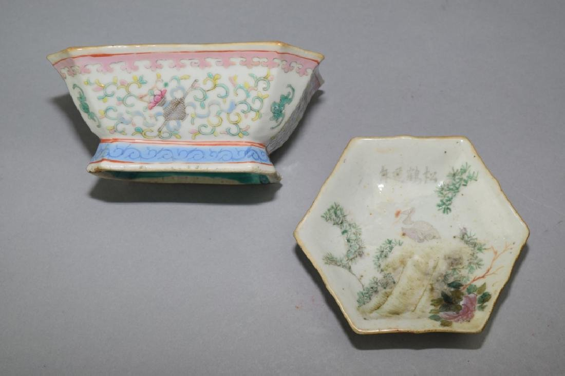 Two Republic Chinese Famille Rose Bowls