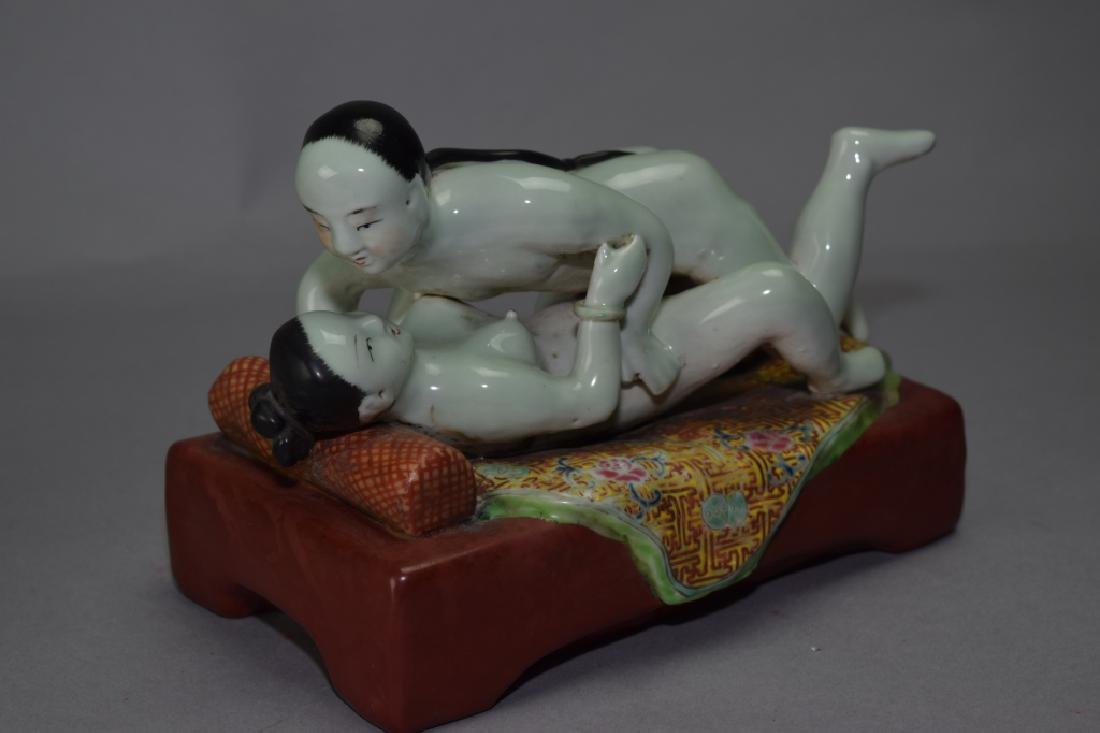 Chinese Famille Rose Erotic Figure